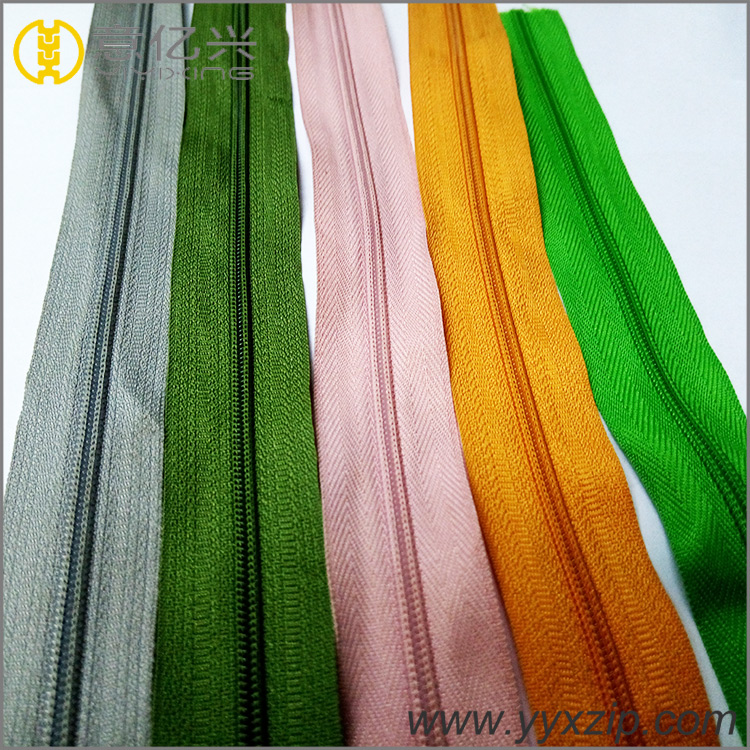 colorful No.5 nylon Zipper