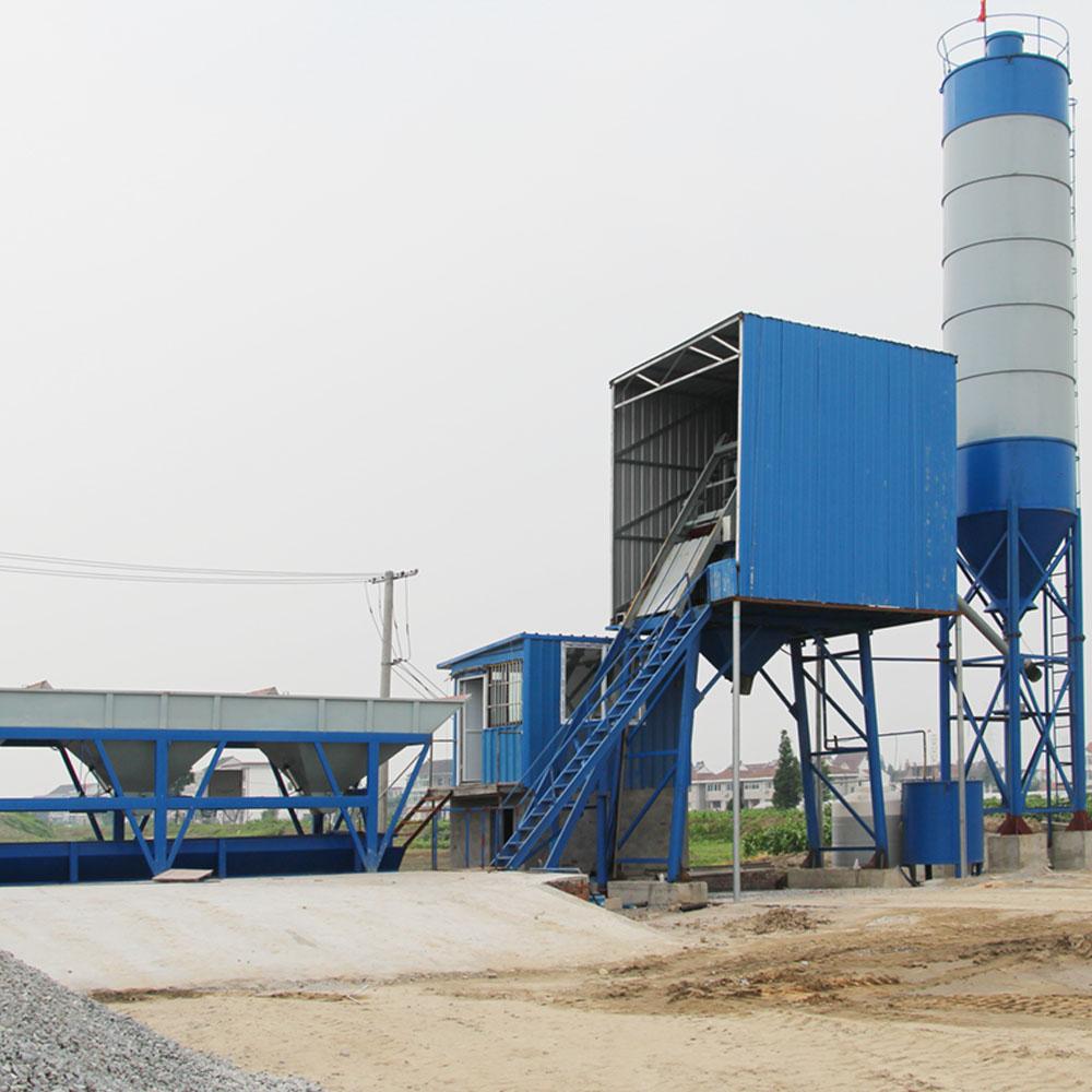 Concrete batching plant mixer