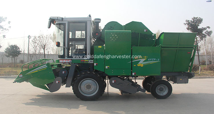 Corn harvester threshing machines