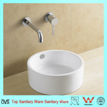 Round Shape Art Basin Without Faucet Hole