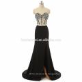 2017 новое поступление с плеча бисером оптом сексуальное платье выпускного вечера высокого сплит черный, светло-синий сексуальный из двух частей платье выпускного вечера