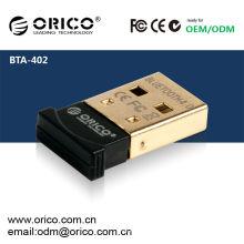 ORICO BTA-402 Adaptador Bluetooth USB CSR8510 Chip - Versión 4.0 (la más reciente versión Bluetooth disponible), adaptador USB de baja energía