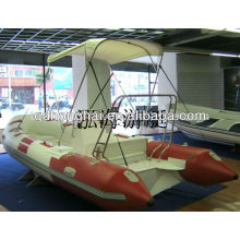 RIB 470B inflatable fiberglass bottom