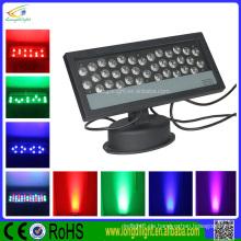 IP65 Hochleistungs LED dmx Wand Unterlegscheibe 36w rgb wasserdichte Beleuchtung