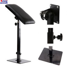 Solong China Manufacturer Black Color New Design Iron Square Bottom Arm Rest Portable Adjustable Tattoo Legrest Armrest