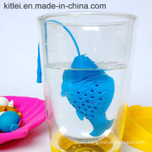 2016 Hot Sale Silicone Cute Fish Fishing Shape Tea Leaf Herbal Strainer Filter Infuser