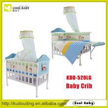 China manufacturer NEW design blue portable european baby crib