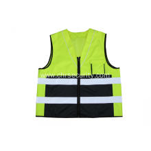 High visibility color safety vest