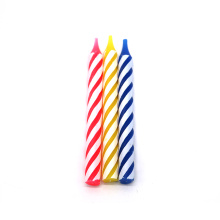 Kleurrijke spiraal Birthday Candles Multi Pack Cake Candles