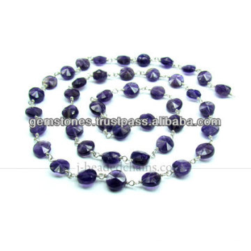 925 Sterling Silver Beaded Chains Amethyst, Wholesale Supplier of Gemstone Jewelry
