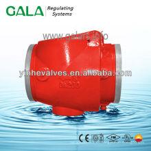 Válvula de retención de balanceo con fabricación recta