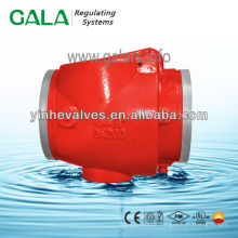 swing check valve with manufacturing straight