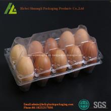 Bandeja de ovos de plástico transparente