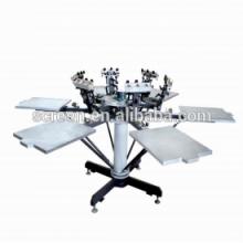 Halbautomatische Flachbett-T-Shirt Siebdruckmaschine