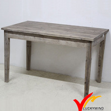 Casa de madera sólida Vintage Handmade Sandblasting Wooden Table