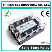 SSR-T40AA With Protective Cover And LED Lamp 3 Phase Solid State Relay