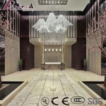 Luminária pendente para projeto de cristal New Design Luxury com Lobby