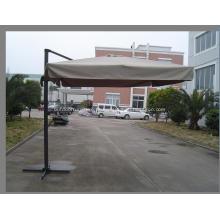 Alumínio exterior novo pólo quadrado pendurado guarda-chuva
