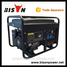 Bison China Zhejiang Высококачественный бензиновый двигатель 6KW Портативный сварочный генератор 300 AMP