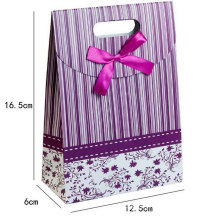 Paper Shopping Gift Bag with Butterfly Ornament Handle