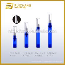 5ml / 8ml / 12ml / 15ml bouteille sans air pour les yeux, bouteille plastique sans cosmétiques, bouteille en plastique pour crème pour les yeux