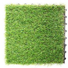 WPC Customized Wood Plastic Composite Interlocking Deck Flooring Roof Tiles Wooden Outdoor DIY Artificial Grass Tiles