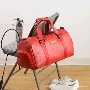 New Custom Men Luxury PU Leather Travel Duffl Bag Duffle Bag