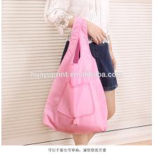 Na vida, moda saco de compras dobrável portátil, saco grande Oxford pano, saco grosso, saco de supermercado