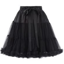 Belle Poque Mujer de lujo de 3 capas de suave Tul Netting crinolina enaguas Underskirt para vestidos de época retro BP000226-1