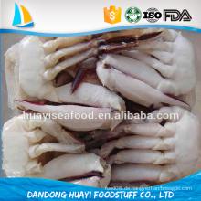 Chinesischer Lieferant großer Geschmack gefroren leben frisch Schwimmen Krabbe halb geschnitten