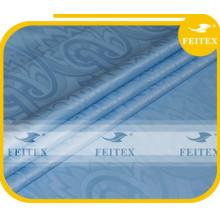 Hot Selling 100% Cotton Bazin Super Riche Baby Blue Guinea Brocade Fabric New Fashion Design