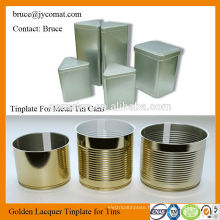 Gold Lacquered Tinplate for Present Cans