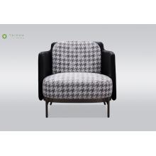 Металлические ножки одноместный диван с тканевой подушкой