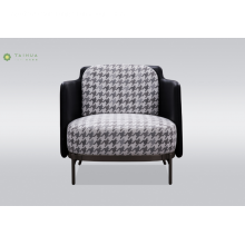 Metal Legs Single Seater Sofa With Fabric Cushion