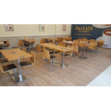Fireproof Finish Plywood Tables and Chairs for Cafe (FOH-CMY30)