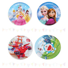disposable christmas cute paper plate