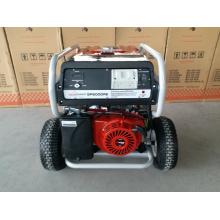 7.5kw Hochleistungsbenzin-Generator mit 2X großen pneumatischen Rädern und Griff, mit Fernstart