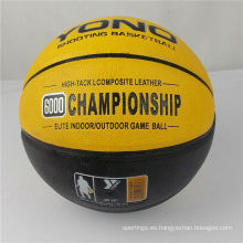 Pelota de baloncesto de cuero de la PU de baloncesto de la marca Guangzhou YONO