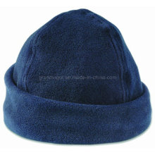 Blank Anti-Piling Fleece Winter Hat with Brim