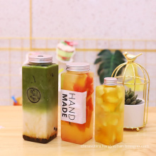 square 400ml PET bottle for drinkings Hot sale 2021 factory  direct