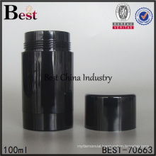 empty high quality black 100ml plastic bottle with screw cap for cosmetic face cream