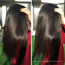 En gros Double Drawn Vierge Remy Cheveux Raides 100 Marques De Armure de Cheveux Humains