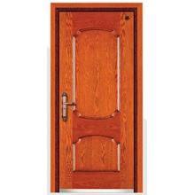 Puerta de seguridad blindada de madera moderna de acero