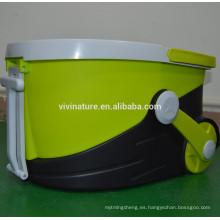 Spin Wring Kitchen Mop 1000rpm fregona telescópica con paño de microfibra