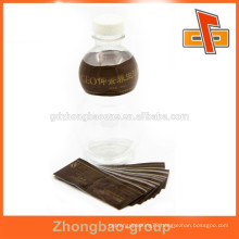 plastic shrink wrapping film for foot care products with gold printing