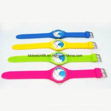 Promotion Mädchen und Jungen Mode Silikon Uhren Wasserdicht
