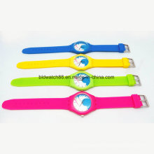 Promotion Girls and Boys Fashion Silicone Watches Waterproof
