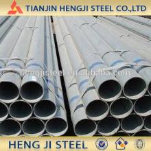 OD 26.9mm, espesor 1.6mm, tubo de acero galvanizado caliente