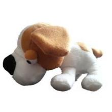 ICTI Audited Factory brown white dog plush toys