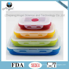 FDA Approved Silicone Food Box Saisie d'aliments pliable Sfb10 (350ML)